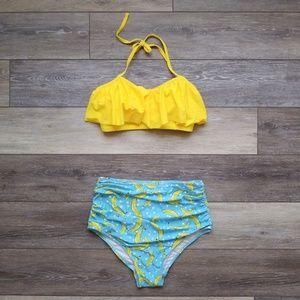 Other - New high waist ruched banana bikini swimsuit